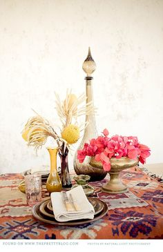 Moroccan-Style Soiree: Table Setting in Muted Tones