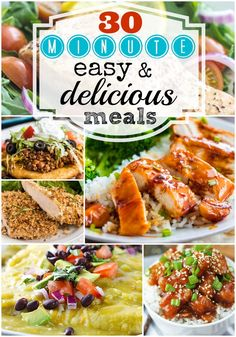30 minute Easy and Delicious Meals at http://therecipecritic.com