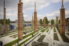 Parco Dora, Turin, Italie Latz+partner Conception et réalisation : 2004-2012  Transformation de friche industrielle en parc paysager