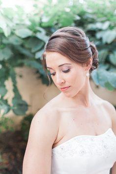 A classic bun for an elegant bride: http://onthegobride.com/2015/06/elegant-affair || http://www.aprilmaura.com/