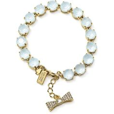 kate spade new york Fancy That Tennis Bracelet (£90) ❤ liked on Polyvore featuring jewelry, bracelets, light blue, tennis bracelet, kate spade jewelry, kate spade, fancy jewelry and kate spade bangle