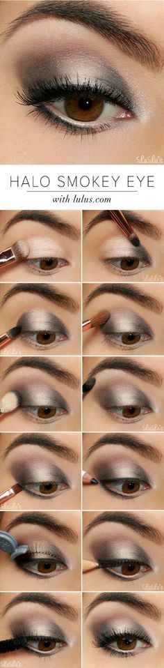 Halo smokey eye