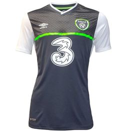 This is the new Ireland away jersey 2016, the Republic of Ireland's new alternate strip for 2015/2016. Made by Umbro, the kit was officially unveiled on September 5, 2015. The Republic stand a dece...