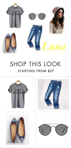 """Luna"" by gikaulitz on Polyvore featuring Tommy Hilfiger, Talbots and Ray-Ban"