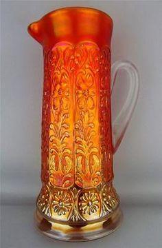 Milady by Fenton Scarce Pumpkin Marigold Carnival Glass Tankard | eBay