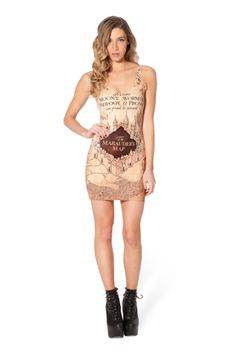 Marauders Map Cover Dress - LIMITED › Black Milk Clothing