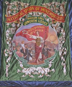 Usworth Protest Art, Coal Mining, Reference Images, Durham, Fabric Painting, Old Photos, Banners, Badge, Old Things