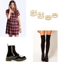 A giant babydoll matched with thigh highs, if you're feeling ~scandalous~.   11 Easy And Comfortable Back To School Outfits