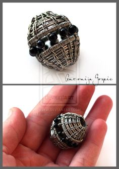 Wire wrapped bead by ~Faeriedivine on deviantART