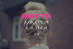 Here is a simple hairstyle that will keep your hair in place, and make you look equally stylish, and sleek, even on hottest summer days (or for an elegant winter party). Upside Down French Braid, French Braid Ponytail, French Braid Hairstyles, Ethnic Hairstyles, Braided Hairstyles Tutorials, Hairstyles With Bangs, Bangs Hairstyle, French Braids, African American Braid Styles