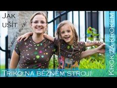 Jak ušít triko na běžném šicím stroji? Easy Youtube, Diy And Crafts, Sewing, Scrappy Quilts, Needlework, Sew, Stitching, Costura