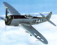 The Republic P-47 Thunderbolt. A fantastic plane in its own right. It was heavy, built like a tank, hard to shoot down - but it used two gallons of fuel every minute. It therefore didn't have the range of the Mustang.
