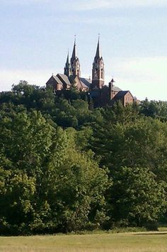 Another view of the Holy Hill Basilica in Hubertus, WI