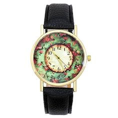 Top Plaza Womens Rose GoldTone Vintage Bracelet Watch with Flower Pattern Dial Black >>> Want additional info? Click on the image.