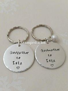 Gifts for Godparents Baptism Gifts Godmother by StampedALot