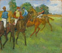 Edgar Degas (French Impressionist painter and sculptor, 1834–1917) Before the Race, c. 1887-1889. Pastel, 22 5/8 x 25 11/16 in (57.50 x 65.40 cm). The Cleveland Museum of Art, Cleveland, Ohio.
