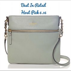 """✨Kate Spade Ellen Crossbody NWT♠️ ♠️❤️Kate Spade Cobble Hill Ellen Crossbody in Spanish moss NWT♠️❤️ ♠️SIZE 10.1""""h x 10.3""""w x 1""""d drop length: adjustable 22'' strap ♠️MATERIAL soft pebbled cowhide with matching trim 14-karat light gold plated hardware custom woven bookstripe printed on poly twill lining  ♠️DETAILS crossbody bag with adjustable strap and zip top closure interior zip and double slide pockets exterior zipper pocket gold foil emobossed kate spade new york signature with spade…"""