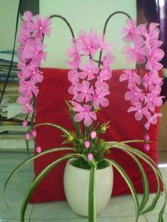 Resultado de imagem para flores de meia de seda
