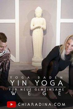 Durch gemeinsames, achtsames ruhiges Verweilen miteinander Grenzen erweitern & neue Wege finden: Alex & Chiaradina führen Dich durch eine Basic Yin Yoga Einheit, die Dir Variationen der Yin Yoga Asanas vorstellt. #yinyoga #onlineyoga #paaryoga #chiaradina