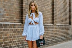 Street style - Summer whites.  Tommy Ton - Street Style Photography - Style.com (=)