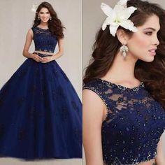16 Mejores Imágenes De 30 Vestidos De Xv Años Azul Marino