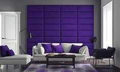 "VANT Upholstered Headboards - Accent Wall Panels - Packs Of 4 - Suede Grape - 30"" Wide x 11.5\"" Height - Easy To Install - Full - Queen Size Headboard *** Check out the image by visiting the link."