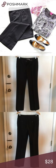 "BANANA REPUBLIC 'The Martin Fit' Trousers Black wool/spandex blend pants. Has stretch. Wide leg. Two front pockets, two rear pockets. Really flattering, especially if you're curvier. Lining is polyester/elastane blend. 33"" inseam. MATCHING BLAZER IN A SEPARATE LISTING.  Blog: bringingupsuns.com Instagram: @bringingupsuns Banana Republic Pants Trousers"