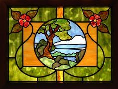 Gnarled Tree Scenic Stained Glass Window by octobercountry1, via Flickr