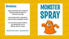 Free Printable Monster Spray Label 2
