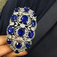 repost from @connieluk_christies A sapphire and diamond bangle, by #Forms, to be offered on May 27 @christiesinc in Hong Kong  #ChristiesJewels #nofilter