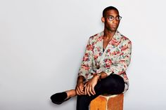 Tinie wearing florals - he carries his style with confidence