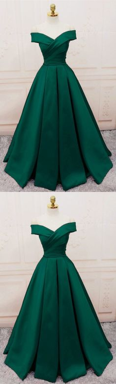 Simple V-neck Off Shoulder Prom Dresses Long Evening Gowns, Shop plus-sized prom dresses for curvy figures and plus-size party dresses. Ball gowns for prom in plus sizes and short plus-sized prom dresses for Prom Dresses 2018, Quinceanera Dresses, Amazing Prom Dresses, Prom Outfits, Wedding Dresses, Emerald Green Dresses, Emerald Gown, Green Prom Dresses, Emerald Green Evening Gown