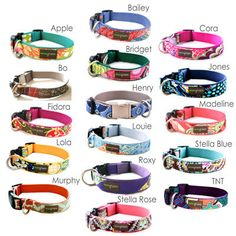 Lazer Engraved Personalized Classic Cotton Dog Collar - 18 styles to choose from. $41.95, via Etsy.