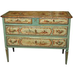 19th Century Painted Italian Commode | 1stdibs.com