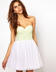 Enlarge Lashes Of London Prom Dress With Fluro Scallop Bustier - scallop detail