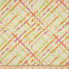 Kaffe Fassett Collective Mad Plaid Pastel from @fabricdotcom  Designed by Brandon Mably for Westminster/Rowan Fabrics, this cotton print fabric is perfect for quilting, apparel and home decor accents. Colors include ecru, peach, sour lime, aqua, orange and fuchsia.