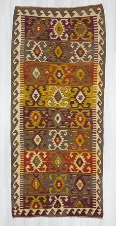 Handwoven vintage kilim rug from Konya region of Turkey. In very good condition. Approximately 55-65 years old. Wool on wool  #vintagekilims #colorfulkilims #woveny #homedecor #Turkishkilims #bohemian #urkishrugs #rugs #arearugs #kilims #kelims #flatwoven #interiordesigner #designerrugs #interior #carpets decor #home #homeliving #design