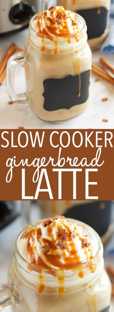 This Slow Cooker Gingerbread Latte is the perfect easy to make hot drink for the holidays, and it tastes even better than Starbucks Gingerbread Latte! Recipe from thebusybaker.ca #starbucksgingerbreadlatte #starbuckscopycat #starbucksrecipe #gingerbreadlatte via @busybakerblog