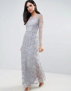 Vero Moda Lace Maxi Dress - Blue