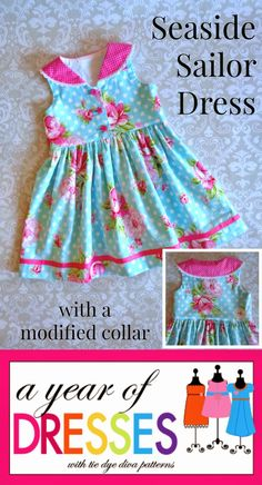 A Year of Dresses: Seaside Sailor Dress With a Fun Twist!