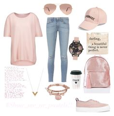 Pastels- Pink!!! by indstargazer0804 on Polyvore featuring polyvore fashion style Duffy Frame Eytys Alex and Ani Olivia Burton Louis Vuitton Amici Accessories Ray-Ban clothing
