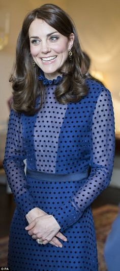 The royal blue 'Mary Illusion dress', which is currently sold out online, has a plunging neckline with an illusion panel to make it more demure