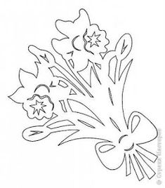 Discussion on LiveInternet - Russian Service Online Diaries Daffodil Bouquet, Paper Cutting Patterns, Pop Up Cards, Kirigami, Origami Paper, Paper Cards, Spring Crafts, Free Paper, Tricks