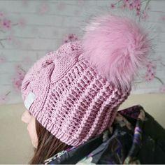 Купить Вязаные шапочки Shapoolya - розовый, однотонный, вязаная шапка, вязаная шапочка, шапка спицами
