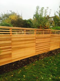 Slatted Fence Panels, Contemporary Fencing, Decks And Porches, Wood Work, Woodworking, Yard, Outdoor Decor, Modern, Design