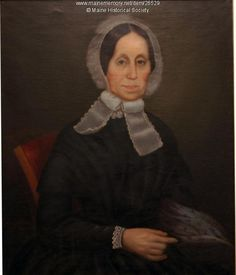 Mary Ham had her portrait painted by an unidentified artist in 1852. Her husband, John, also was painted at the same time. Item # 26529 on Maine Memory Network
