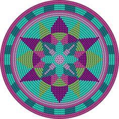 Wayuu Mochila bottom Aztec flower