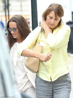 Proud mother: Pippa became betrothed to hedge fund manager James Matthews, who…