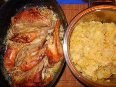 Zajac na smotane a cesnaku so zemiakmi