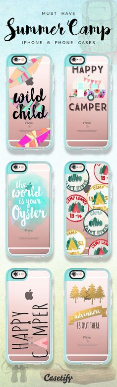 Top summer camping travel iPhone 6 protective phone case designs